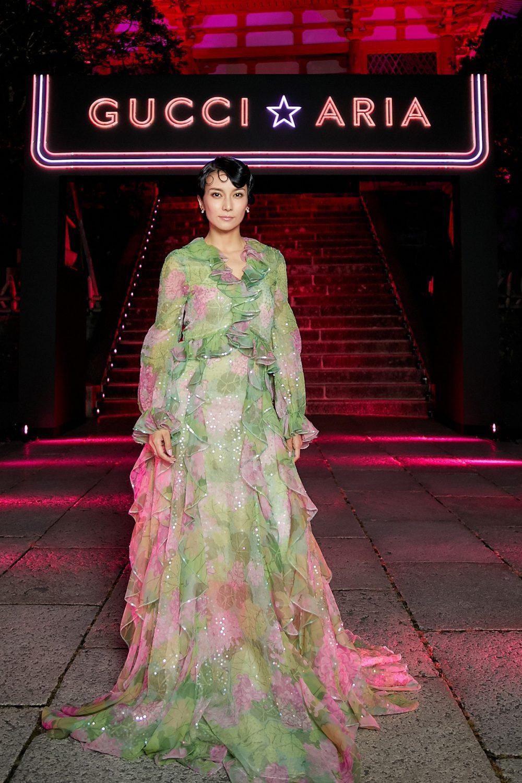 Nữ diễn viên nổi tiếng với các phim lịch sử, Kou Shibasaki. Ảnh: Gucci.