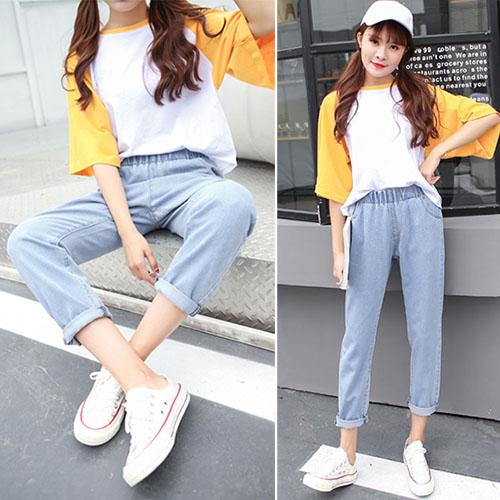 Phối đồ với quần jean baggy cùng áo oversize