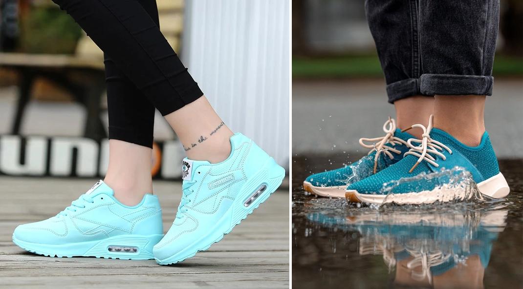 giày thể thao màu nào dễ phối đồ nhất? xanh