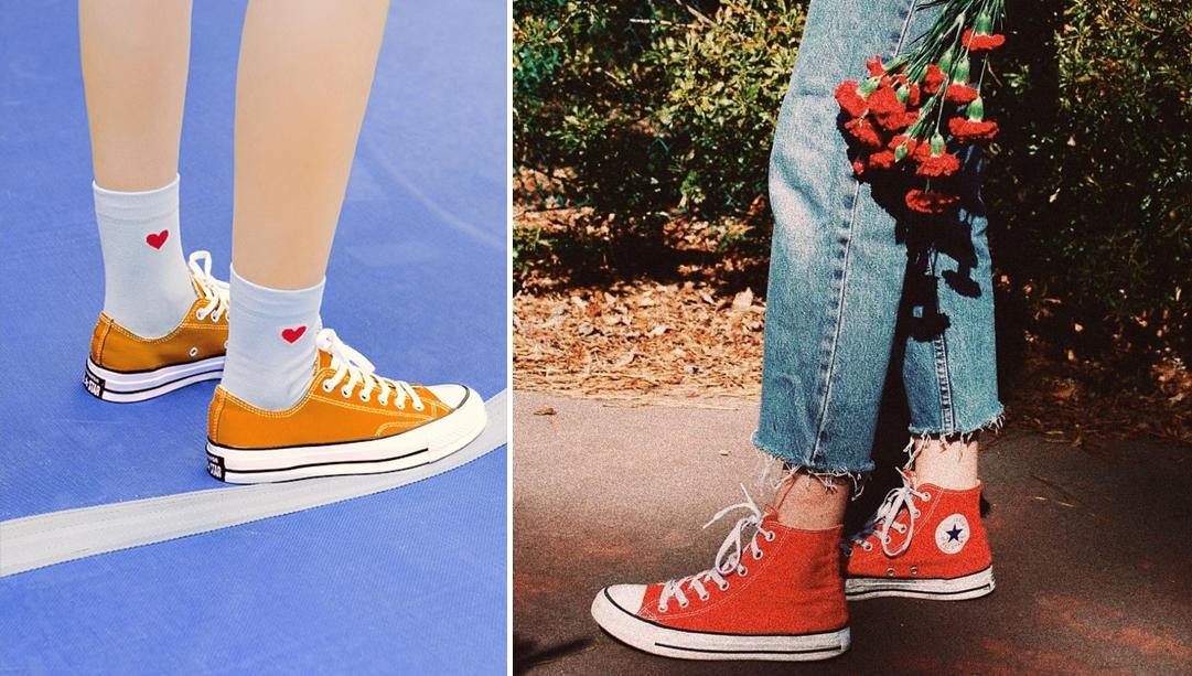 giày màu cam