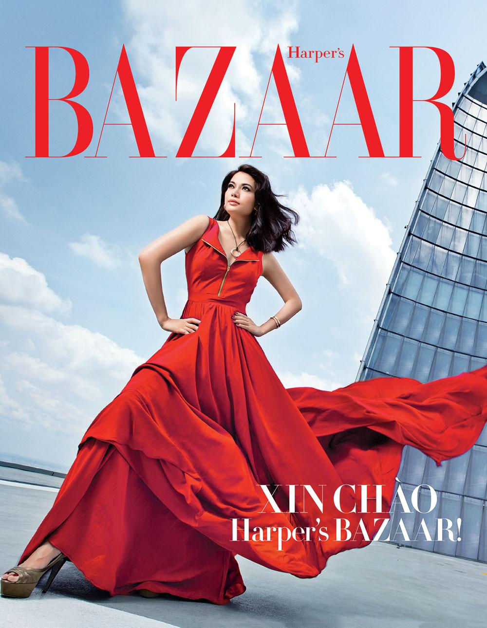 Trương Ngọc Ánh là gương mặt trang bìa đầu tiên của Harper's Bazaar tại Việt Nam