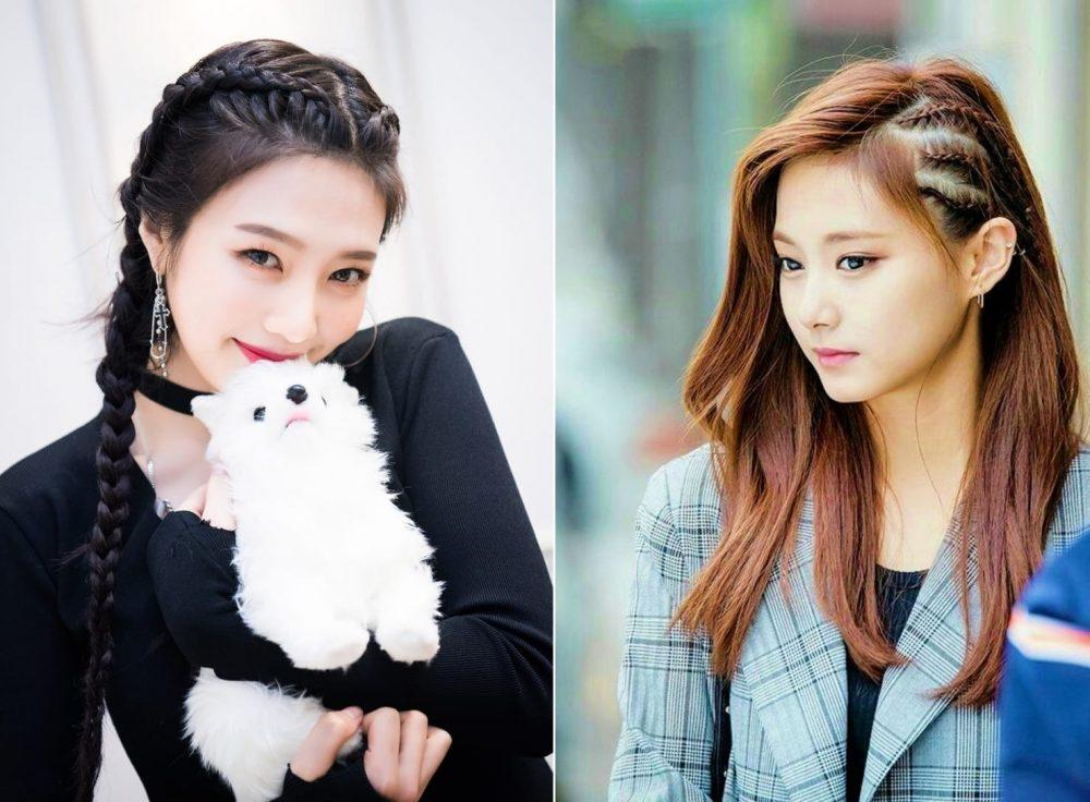 Joy của Red Velvet (trái) và Tzuyu (Twice)