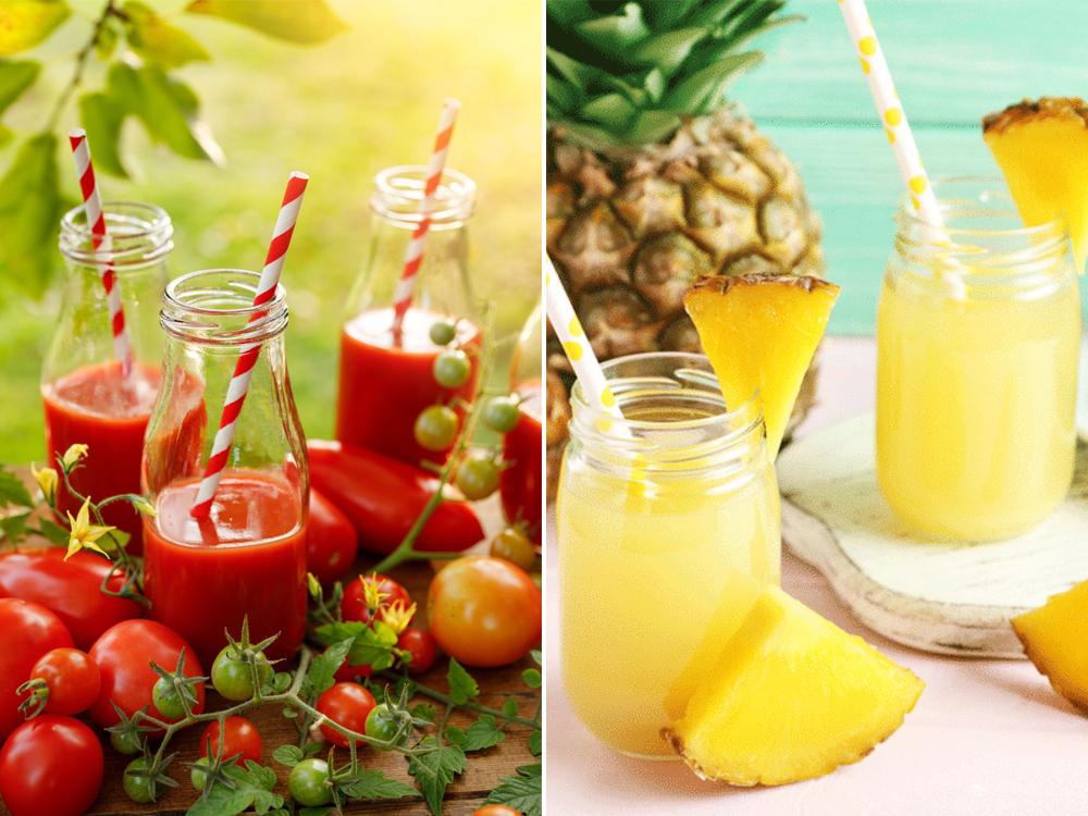 Cách làm nước ép cà chua, dứa giảm cân