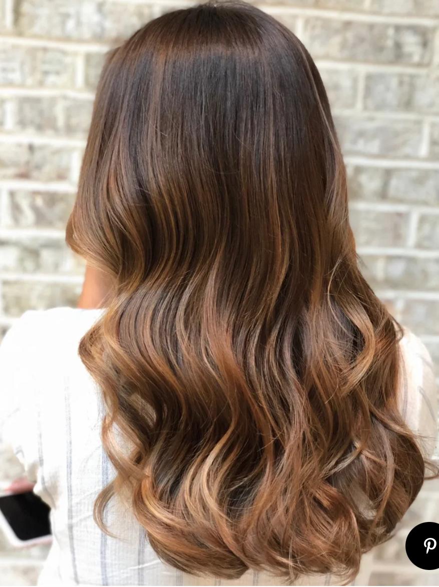 Nhuộm tóc balayage màu hổ phách