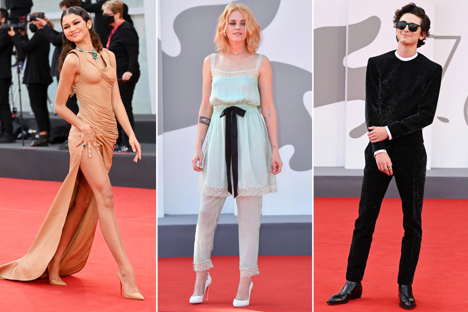 Thời trang thảm đỏ liên hoan phim Venice 2021: Đầm couture sánh vai...đồ ngủ