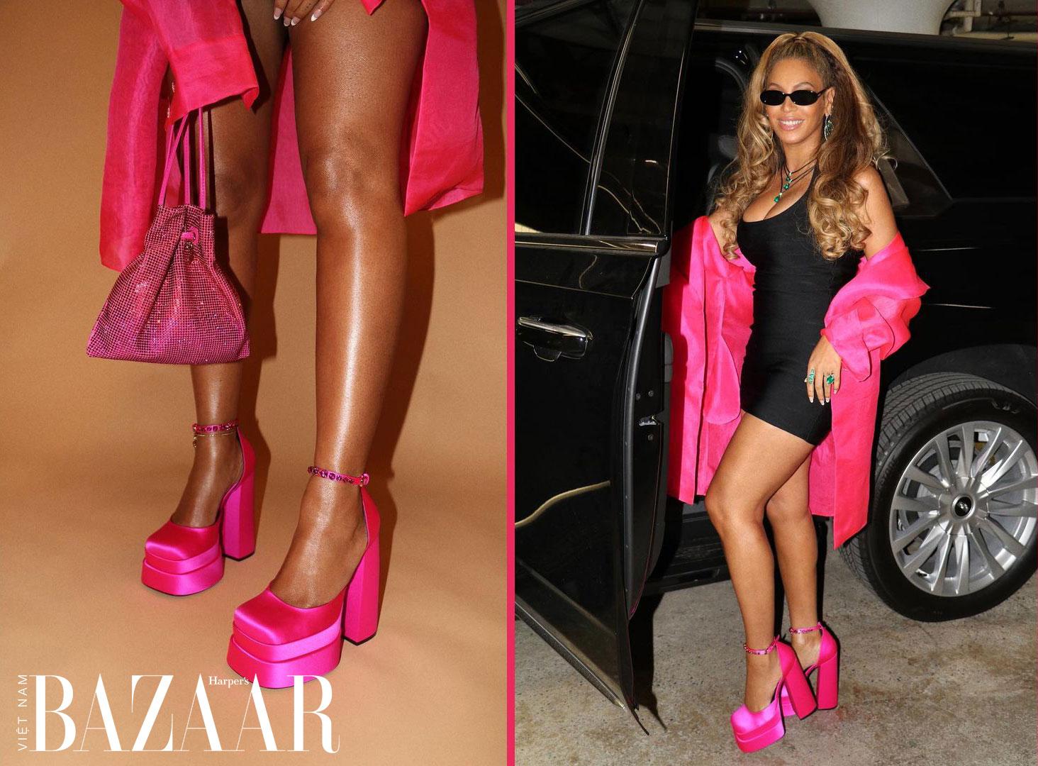 Beyoncé khiến đôi giày Medusa của Versace trở thành sản phẩm hit