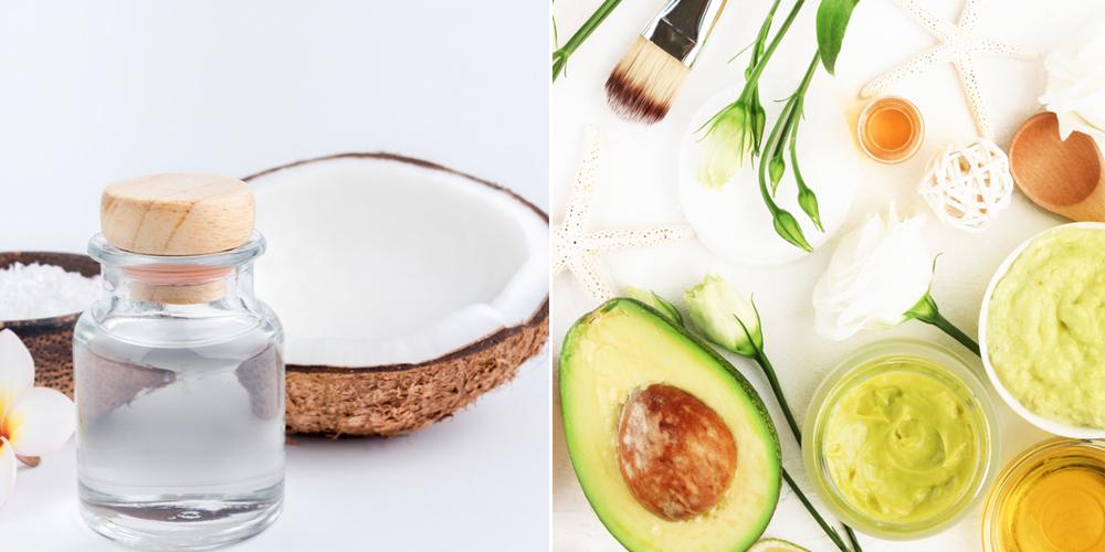 Dầu dừa và bơ trị nám và tàn nhang