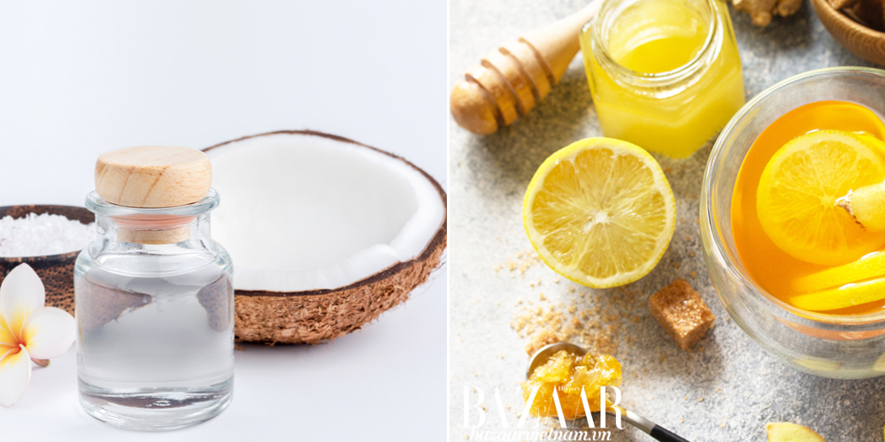 Trị tàn nhang bằng dầu dừa và nước chanh