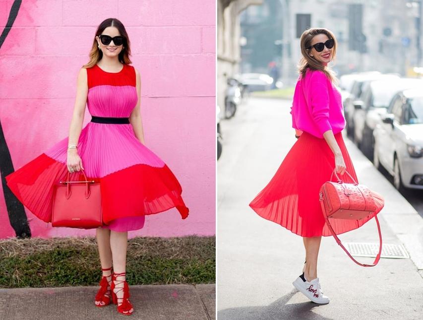 Phối với áo màu hồng