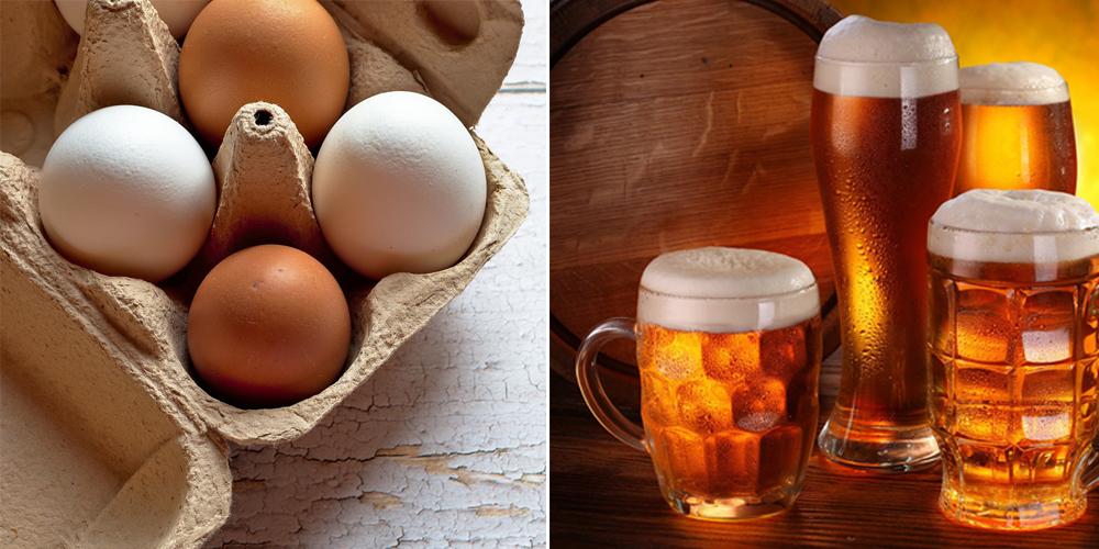 Cách làm đẹp da bằng bia và trứng gà chống lão hóa