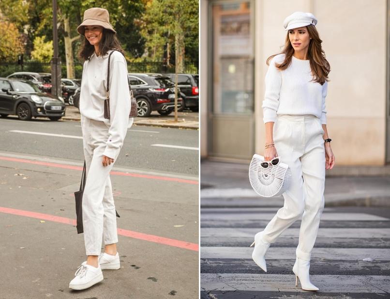 Quần trắng phối với áo gì nữ?