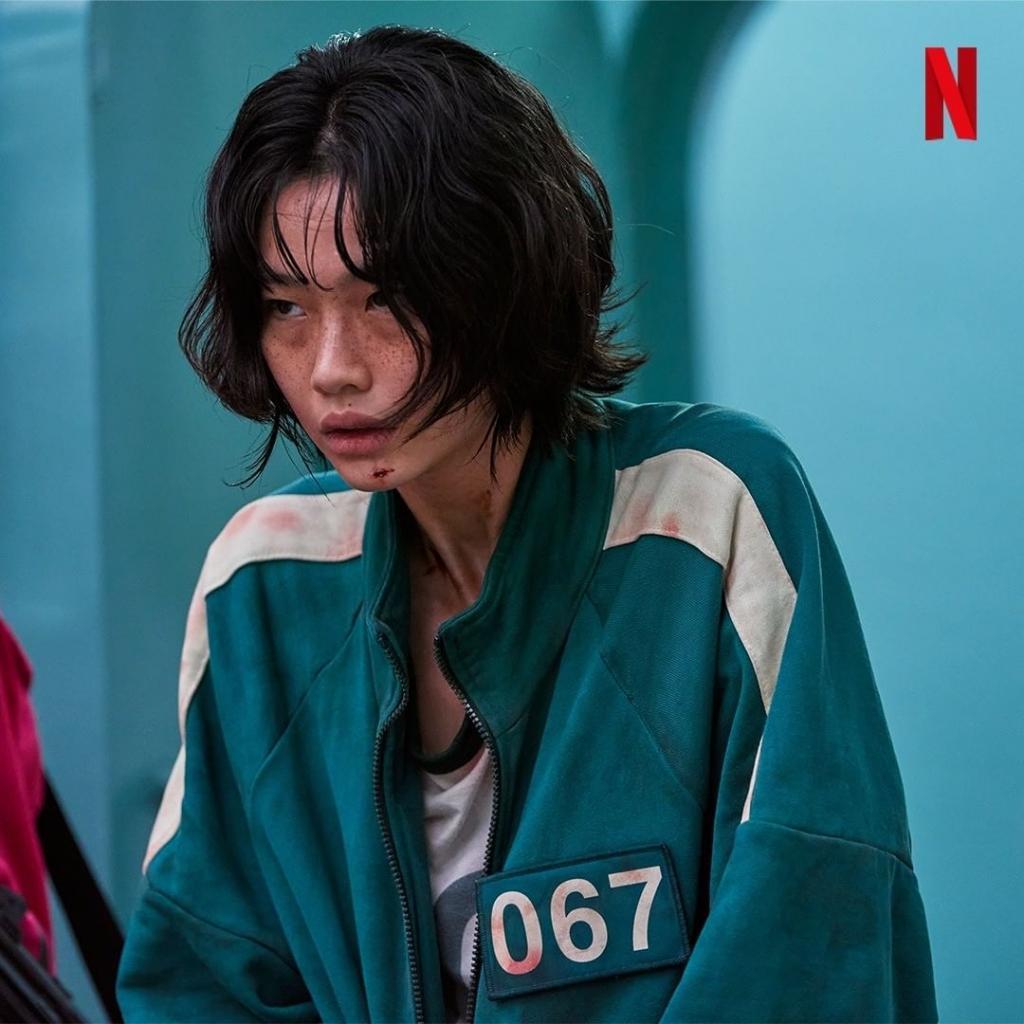 Kang Sae Byeok (Jung Ho Yeon đóng) trong phim Trò chơi con mực
