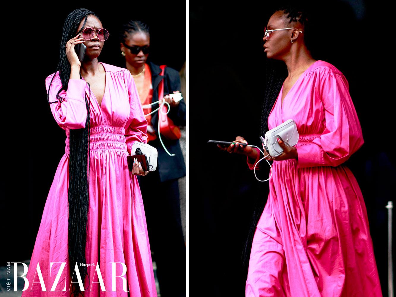 Street style tuần lễ thời trang London Xuân Hè 2022 5