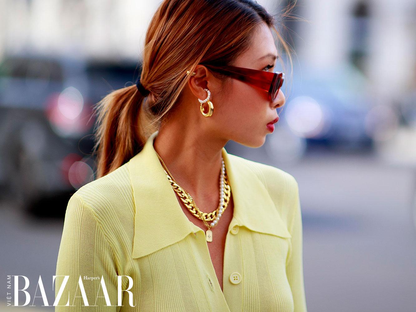 Street style tuần lễ thời trang London Xuân Hè 2022 2