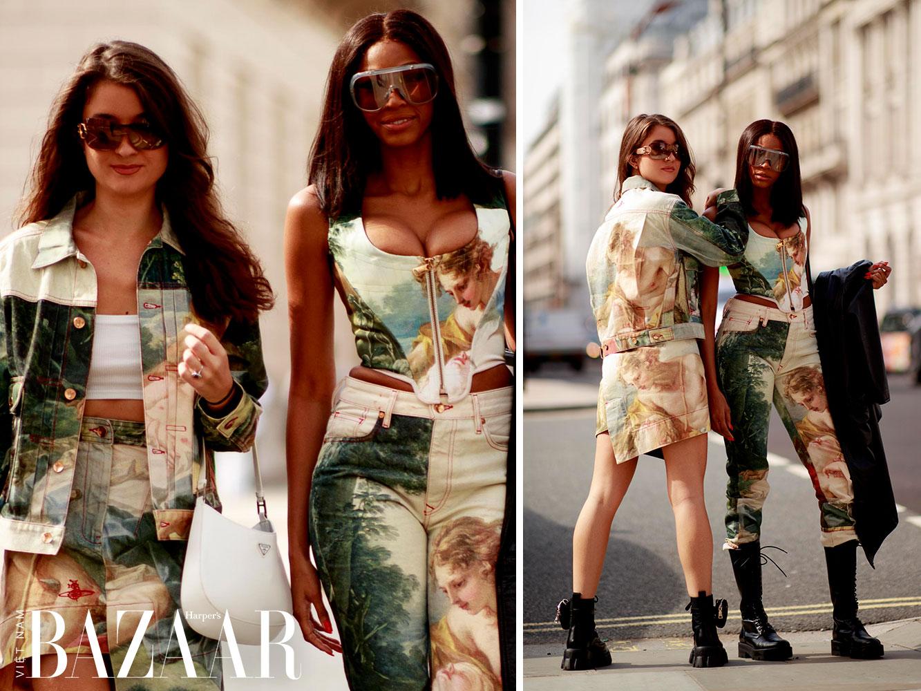 Street style tuần lễ thời trang London Xuân Hè 2022: Xua đi tiết trời u ám với màu sắc rực rỡ