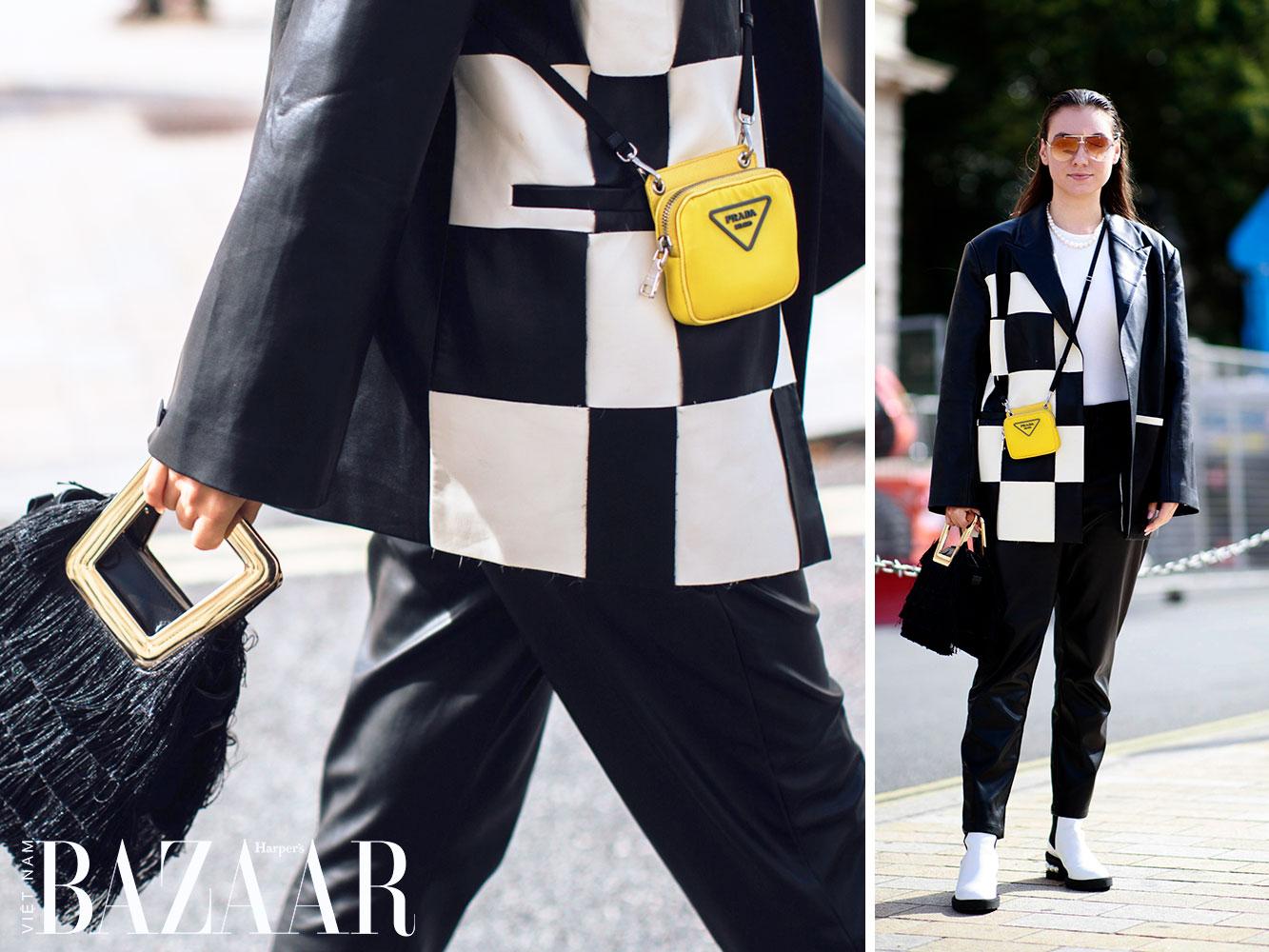 Street style tuần lễ thời trang London Xuân Hè 2022 3