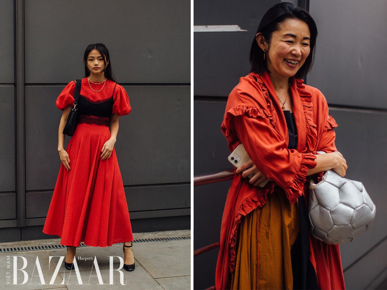 Street style tuần lễ thời trang London Xuân Hè 2022 6