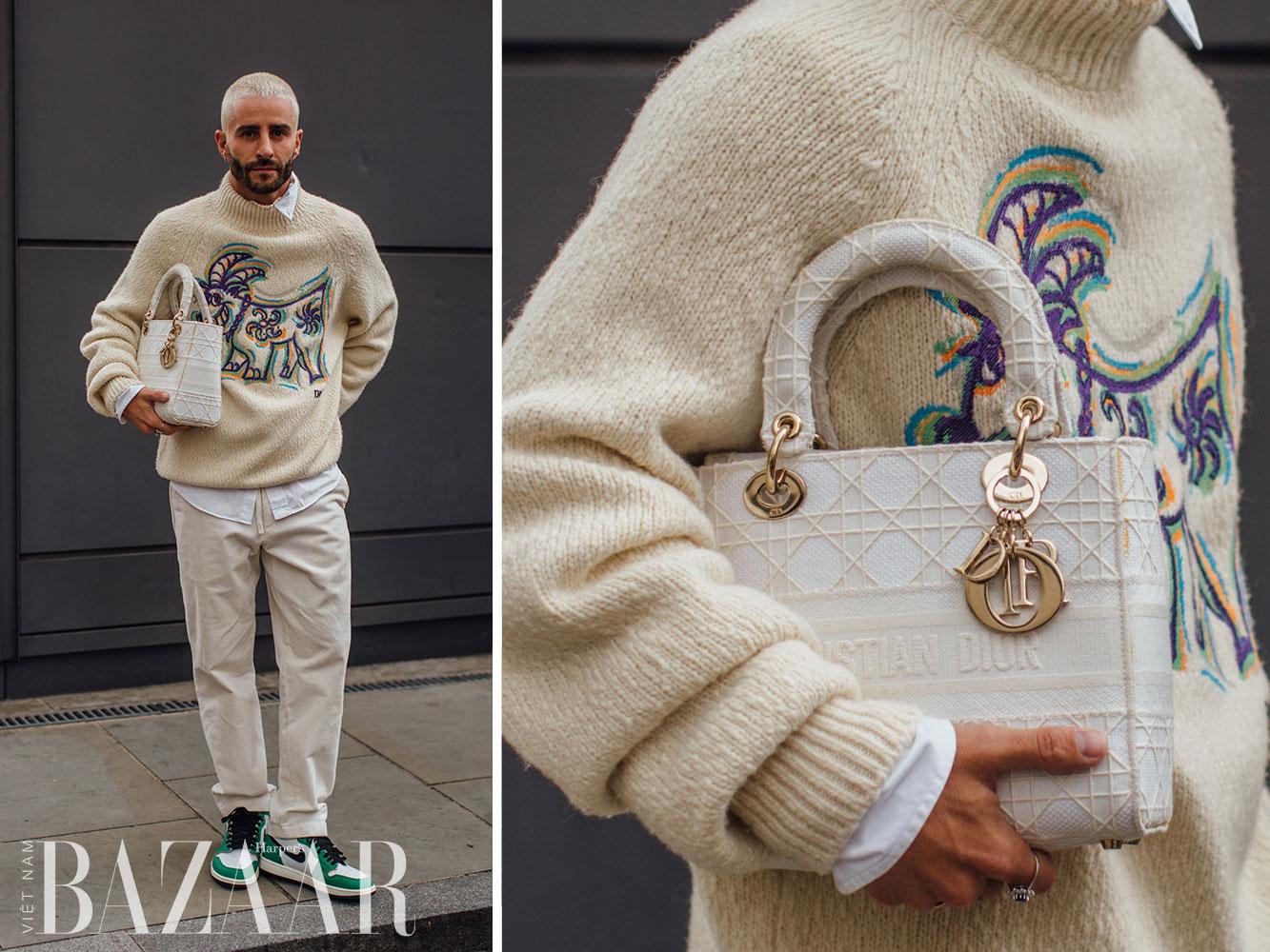 Street style tuần lễ thời trang London Xuân Hè 2022 4