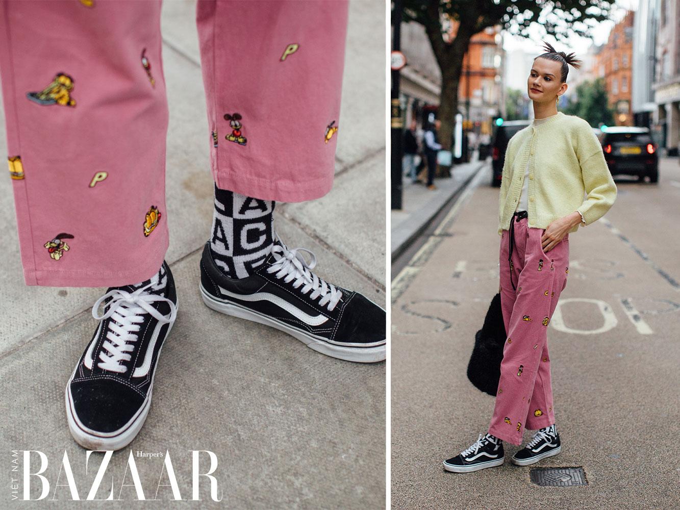 Street style tuần lễ thời trang London Xuân Hè 2022 8