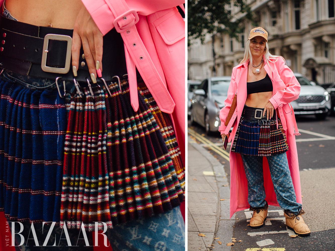 Street style tuần lễ thời trang London Xuân Hè 2022 13