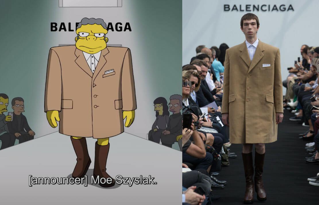 Balenciaga đưa hoạt hình The Simpsons đến tuần lễ thời trang Paris