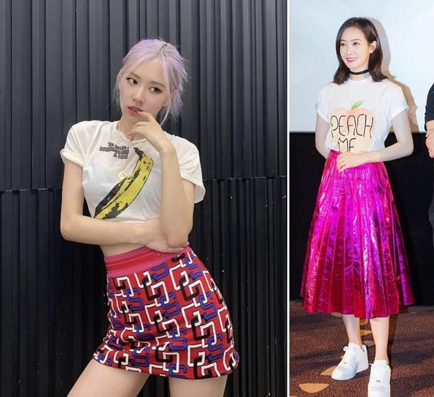 Chân váy hồng kết hợp với áo màu gì? Áo trắng