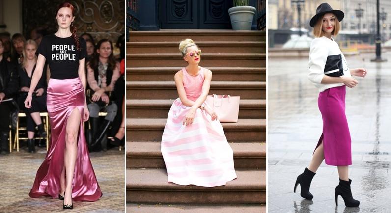 Chân váy hồng nên kết hợp với áo màu gì?